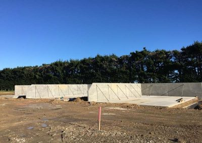 Construction of the silage bunkers