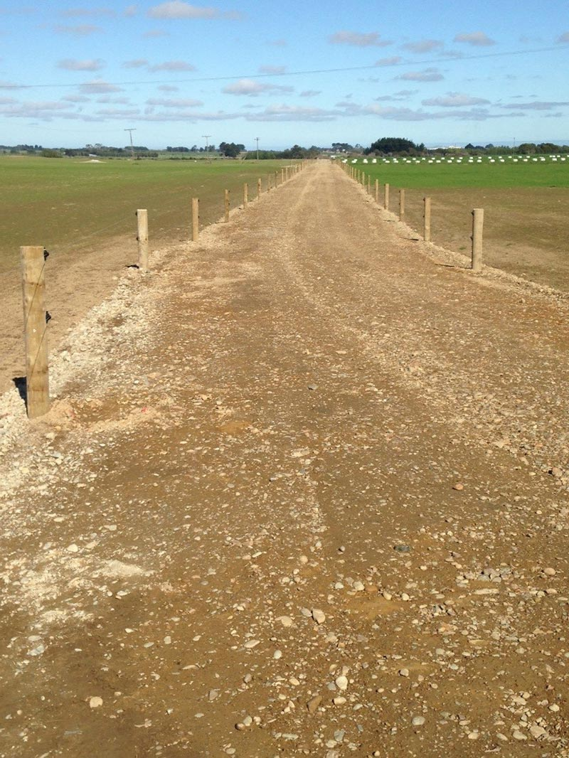 Lanes Rolled, Graded, Fenced and Bedding In