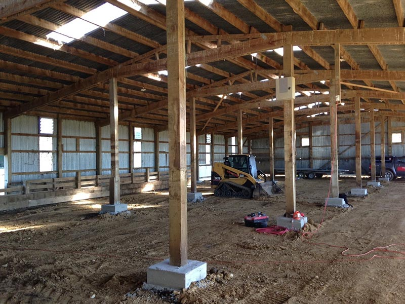 Old Woolshed Guttered and Stripped Back to Make way for the New Retrofitted Calf Sheds